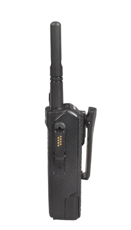 Motorola Digitalfunkgerät DP 2400 linke Seite